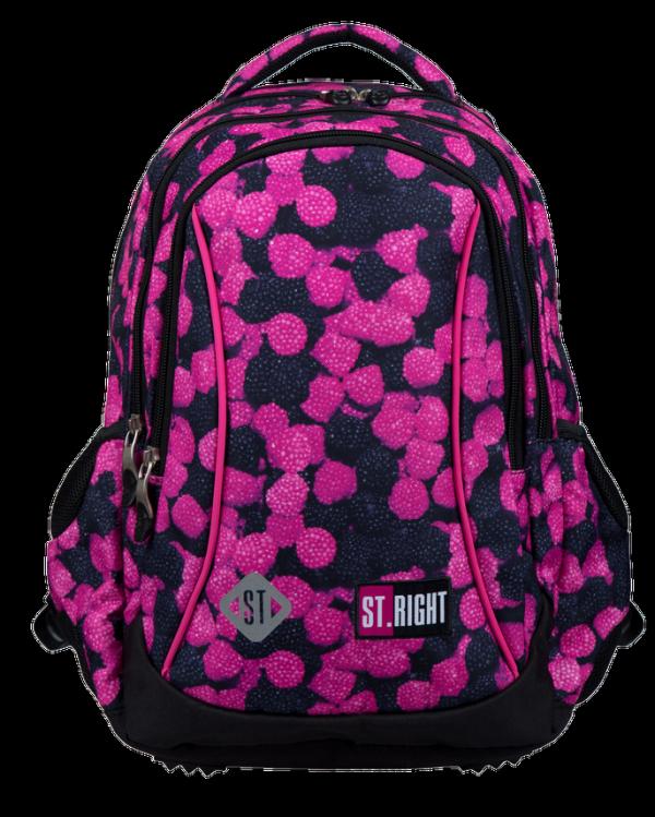 Plecak wczesnoszkolny ST.RIGHT w owoce leśne, BERRIES BP26 (22038)