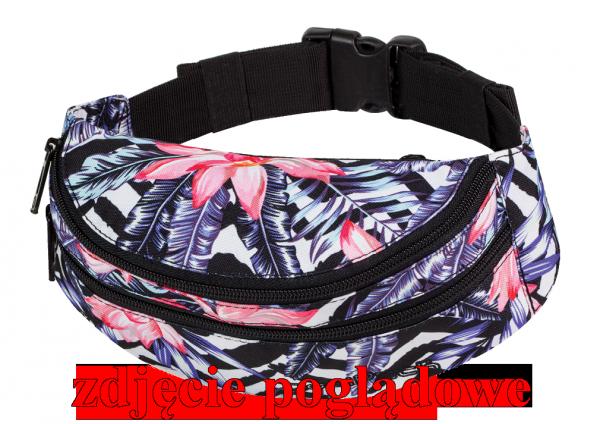 Saszetka na pas torba nerka COOLPACK MADISON w kolorowe pióropusze, PLUMES 967 (70928)