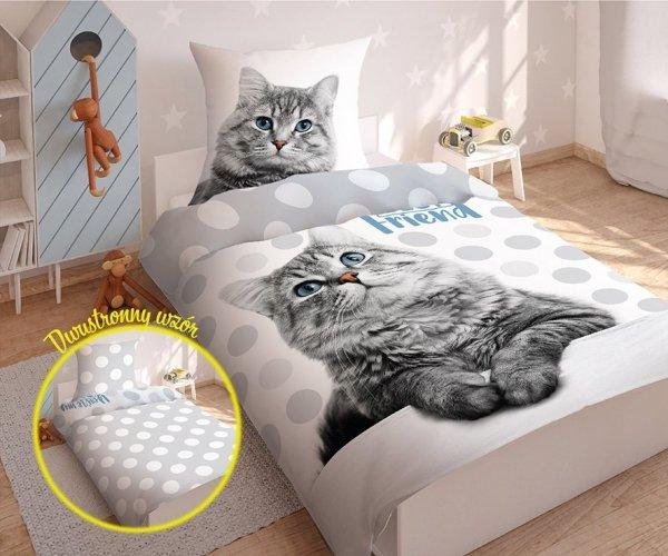 Komplet pościeli pościel CAT Kotek 140 x 200 cm (2922)