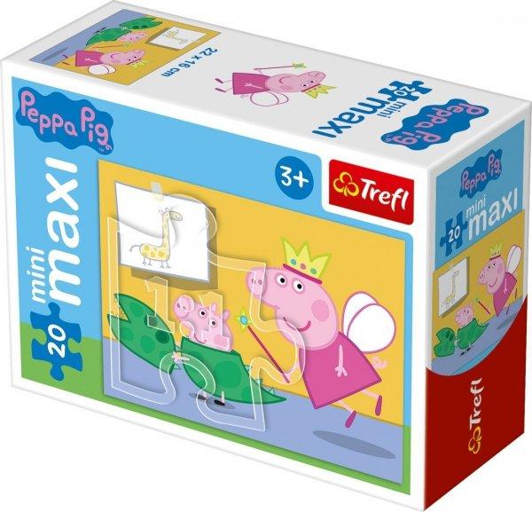 TREFL Puzzle miniMaxi 20 el. Świnka Peppa (21001)