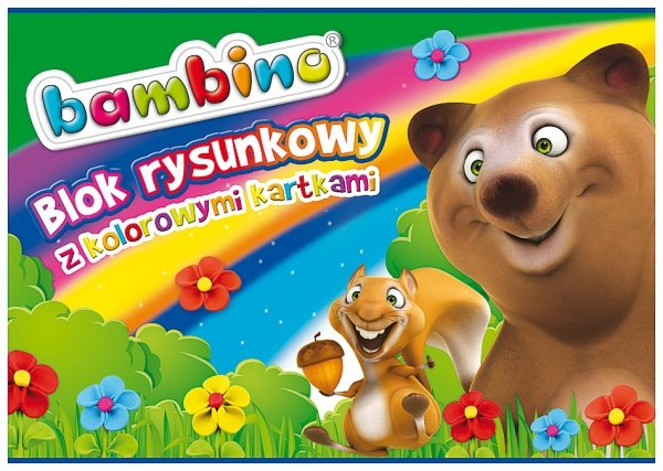 BLOK RYSUNKOWY A4 kolorowe kartki BAMBINO (02878)