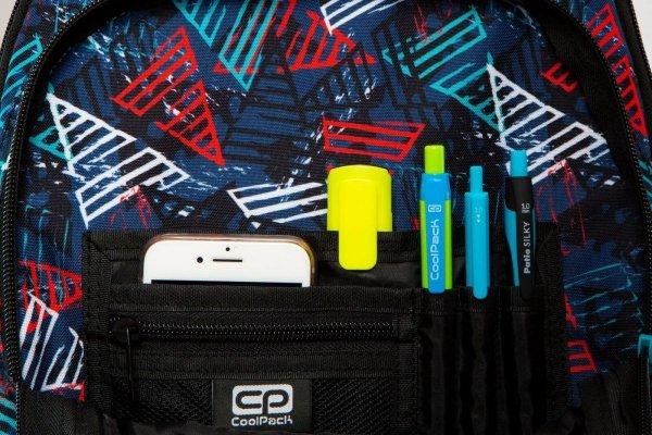 Plecak CoolPack LED JUNIOR na kółkach w kolorowe trójkąty TRIANGLES (97055)