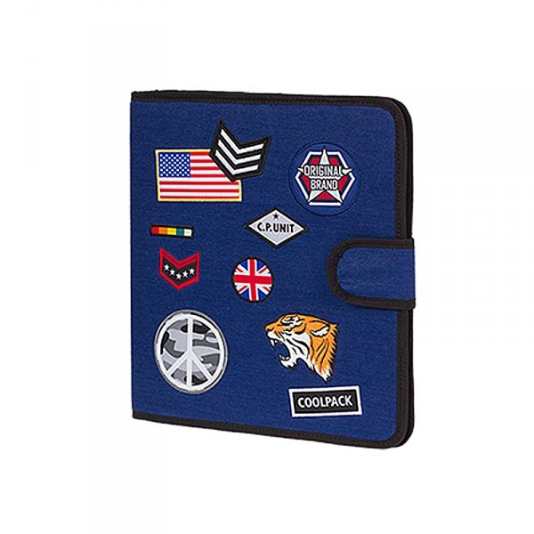 COOLPACK Teczka wielofunkcyjna organizer MATE, niebieska w znaczki, BADGES NAVY (86059CP