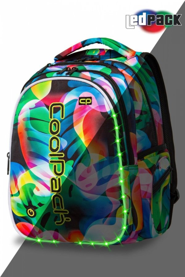 Plecak CoolPack LED JOY L w kolorowe smugi RAINBOW LEAVES (96775)