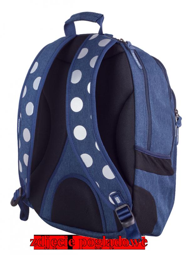 Plecak CoolPack UNIT różowy w kropki, SILVER DOTS/PINK 700 (78559)