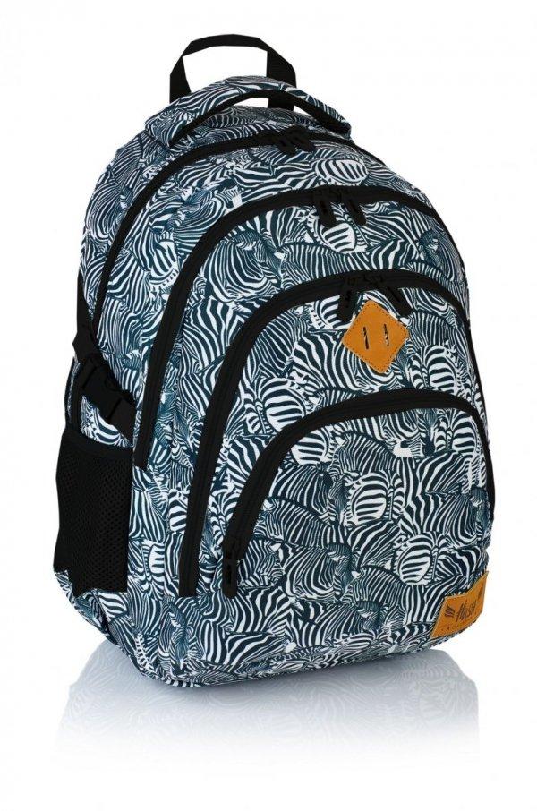 Plecak szkolny HASH w zebrę, ZEBRA HS-15 (502018059)