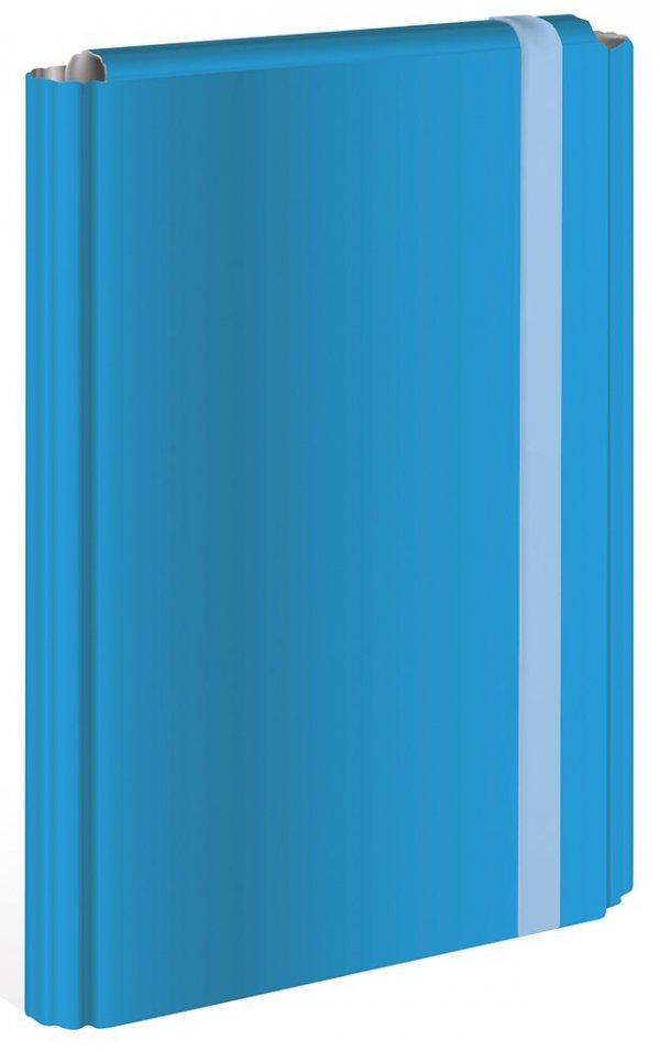 Teczka skrzydłowa z gumką A4 NIEBIESKA 4 cm (58625)