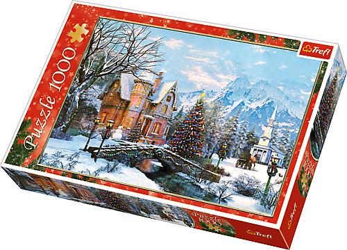 TREFL Puzzle 1000 el. Boże Narodzenie, Zimowy Krajobraz  (10439)