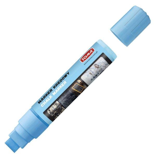 MARKER kredowy zmywalny TOMA 15 x 8 mm, niebieski (TO-290)