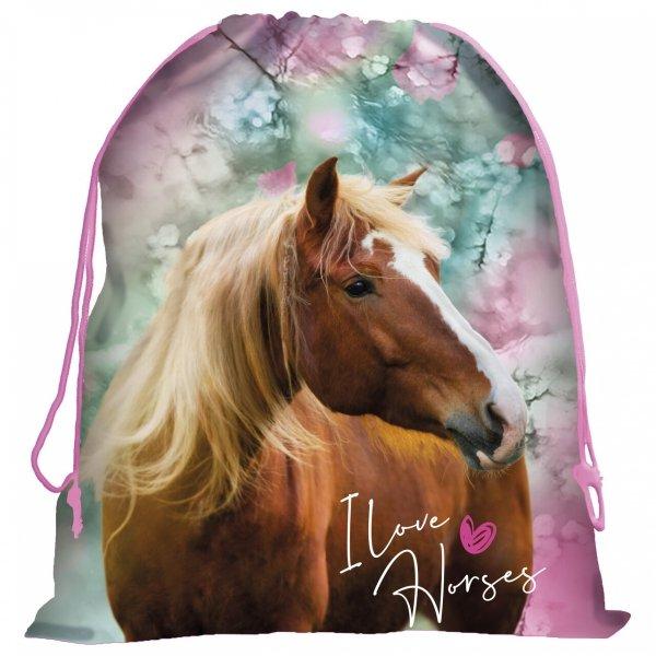 ZESTAW 5 el. Plecak szkolny I LOVE HORSES Konie (PL15BKO19SET5CZ)