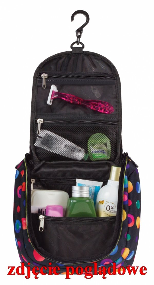 Kosmetyczka CoolPack TRAVEL w kolorowe paski, FLASHING LAVA 951 (70461)