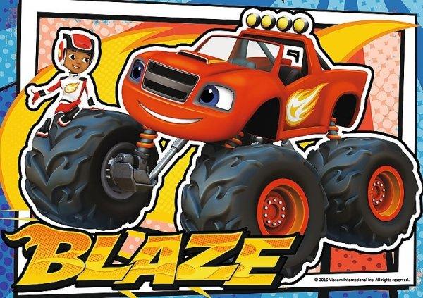 TREFL Puzzle 4 w 1 Blaze i Mega Maszyny (34267)