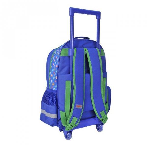 Plecak szkolny na kółkach Samoloty (141220SA)