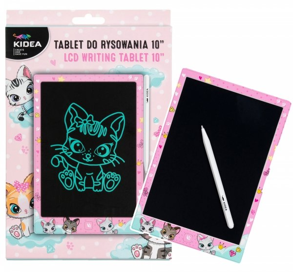 """Tablet do rysowania LCD Kidea KOTKI Matryca 10"""" + magnetyczny rysik (TR10AKA)"""