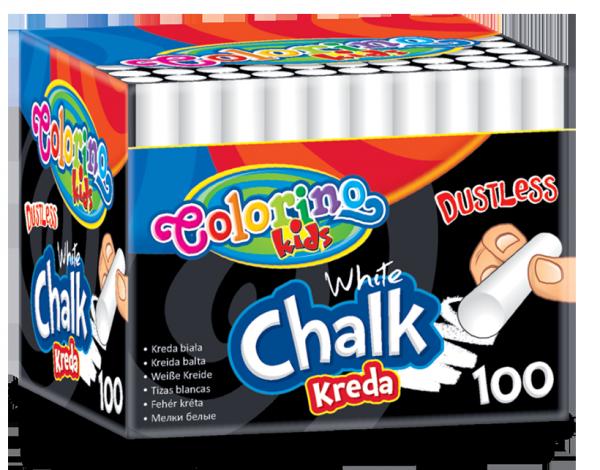 Kreda biała bezpyłowa 100 sztuk COLORINO (33145PTR)