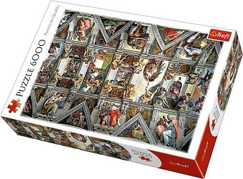 TREFL Puzzle 6000 el. Sklepienie Kaplicy Sysktyńskiej (65000)