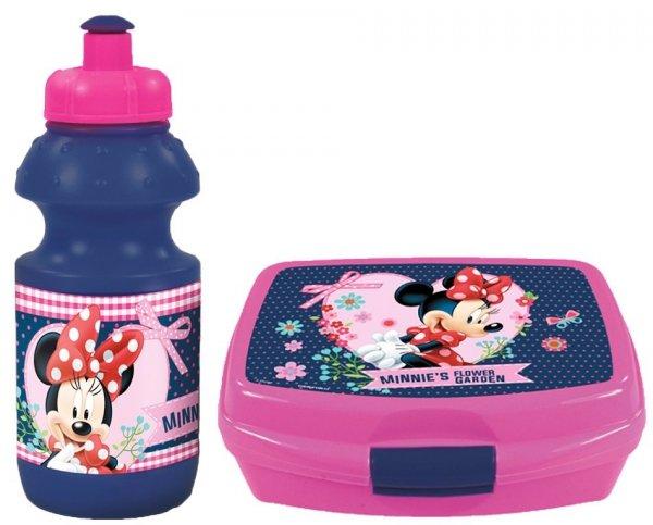 Zestaw bidon i śniadaniówka w kartoniku Myszka Minnie, licencja Disney (ZSBMM17)