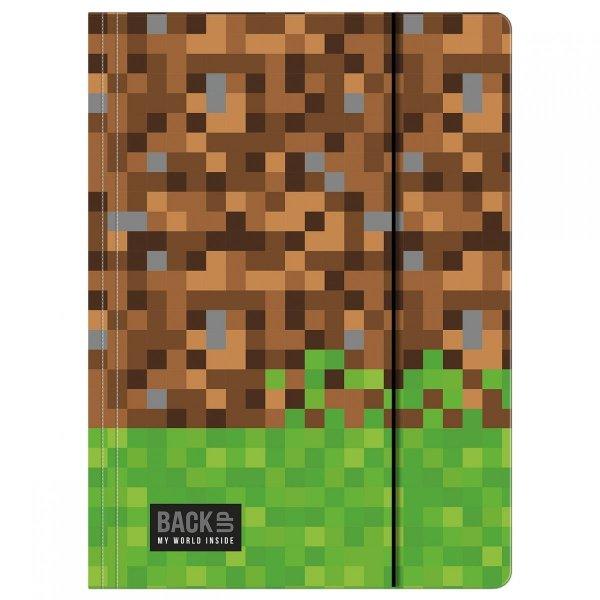 Teczka rysunkowa A4 z gumką BackUP GAME dla fana gry MINECRAFT (TGA4B2A39)