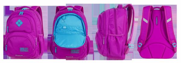 Plecak CoolPack DART XL różowy z niebieskimi dodatakami PINK/ JADE (89432CP)