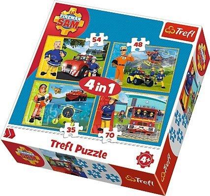 TREFL Puzzle 4 w 1 Strażak Sam na ratunek (34311)