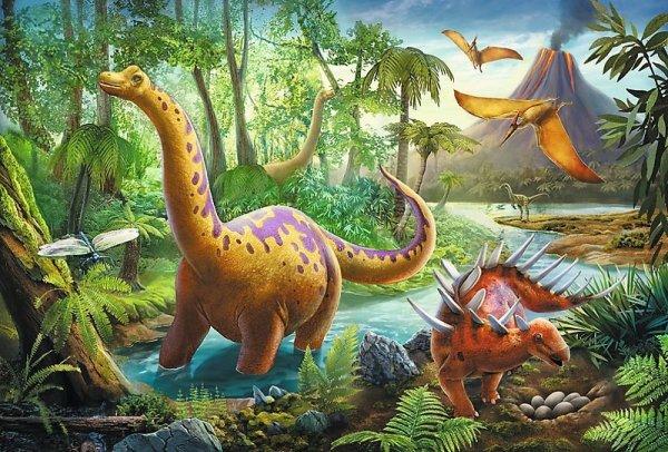 TREFL Puzzle 60 el. Wędrówka dinozaurów (17319)