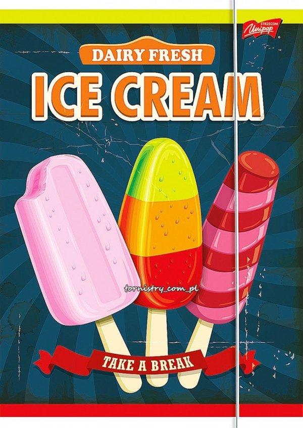 Teczka rysunkowa A4 z gumką ICE CREAM (10127)