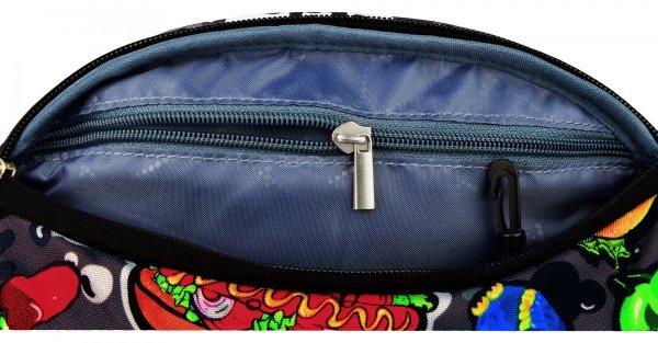 Saszetka na pas torba nerka, w kolorowe wzory, FAST FOOD WB2 (17140)