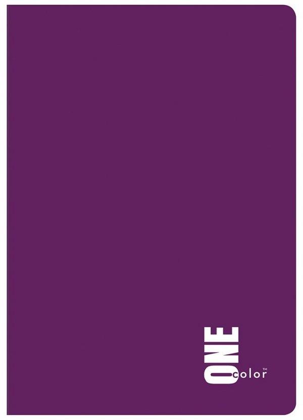 Zeszyt A5 60 kartek w kratkę ONE COLOR Fiolet (27003)