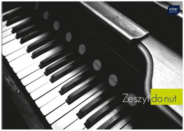 Zeszyt do nut muzyki w pięciolinię A5, INTERDRUK