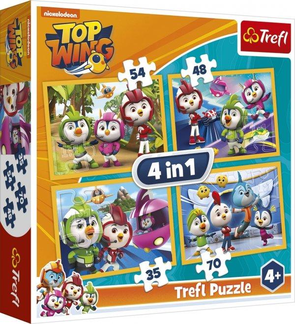 TREFL Puzzle 4 w 1 TOP WING PTASIA AKADEMIA (34342)