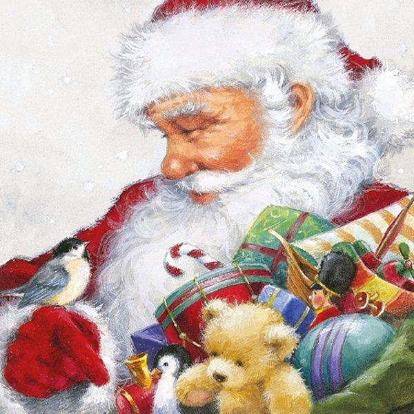 Serwetki świąteczne LOVING SANTA, Paw (SDL081300)