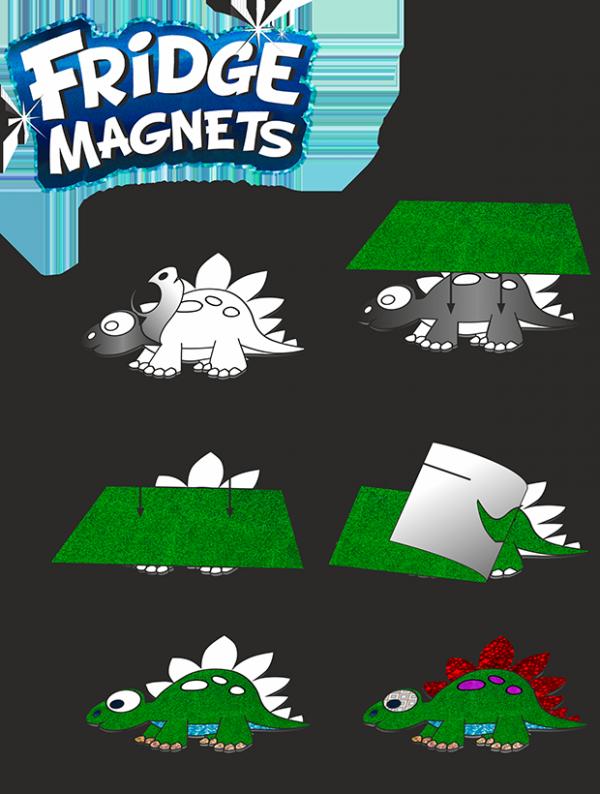 Magnesy na lodówkę COLORINO CREATIVE wzór FLAMING (91411PTR)