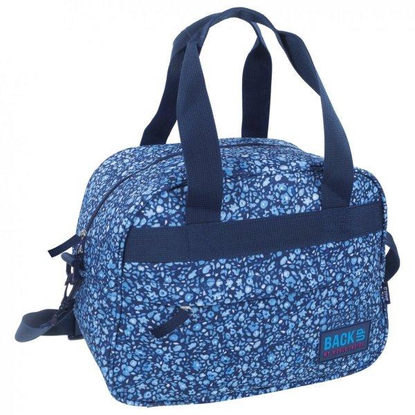 Torba podróżna, sportowa Back UP w drobne niebieskie kwiatki BLUE FLOWERS (TPB1A14)