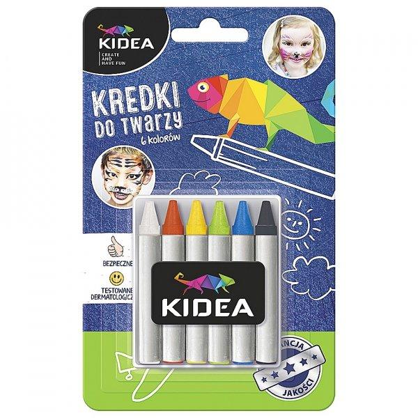 Kredki do malowania twarzy 6 kolorów KIDEA (KDT6KA)