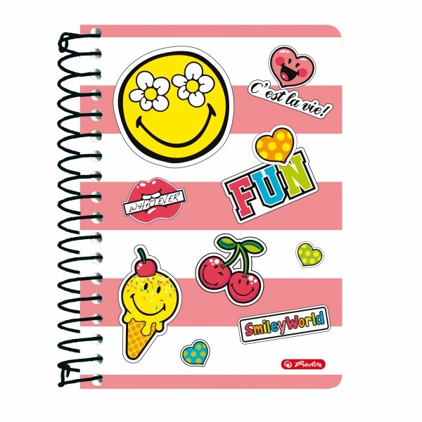 Brulion na spirali A6 200 kartek Smiley World GIRLY, HERLITZ (36422/G)