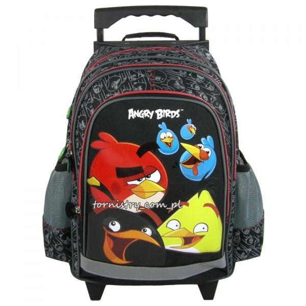 Zestaw Plecak szkolny na kółkach  ANGRY BIRDS 3 cz. + GRATIS