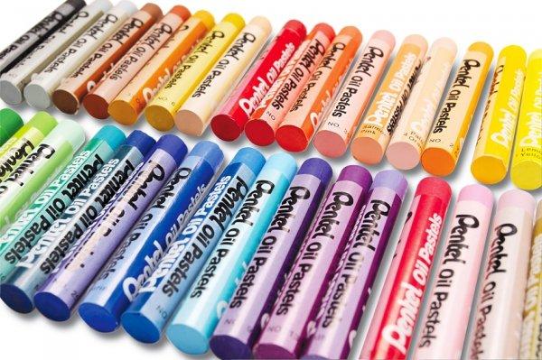 Pastele olejne szkolne 25 kolorów PENTEL (PEN25)