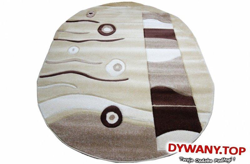 TATU ONE LIGHT L.BEIGE /D.BROWN beż-brąz owal 160x220