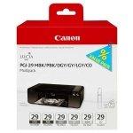 Canon oryginalny ink PGI-29 MBK/PBK/DGY/GY/LGY/CO Multi pack, black/color, 4868B018, Canon Pixma Pro 1