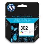 HP oryginalny ink F6U65AE, HP 302, color, 165/165/165s, 4ml, HP OJ 3830,3834,4650, DJ 2130,3630,1010, Envy 4520