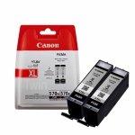 Oryginalny, kompatybilny Zestaw dwóch tusz  Canon PGI-570PGBK XLdo Pixma MG-5750/6850 | 2 x 22ml | black