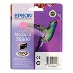 Oryginalny, kompatybilny Tusz Epson T0806   do Stylus  Photo R-265/285/360 RX560  | 7,4ml | light magenta