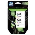 Zestaw dwóch tuszy HP 344 do Deskjet 460/6540/6620/6940 | 2 x 560 str. | CMY