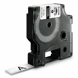 Dymo RHINO rurka termokurczliwa | 18055 | 12mm/1,5m | czarmy/biały