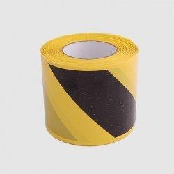 Taśma ostrzegawcza czarno-żółta jednostronna 100 m