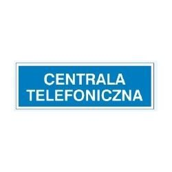 Znak CENTRALA TELEFONICZNA 801-83 P.Z.