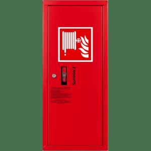 HYDRANT wewnętrzny wykonanie boczne zawieszany  z wężem półsztywnym 25/20m czerwony