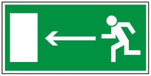 Kierunek do wyjścia drogi ewakuacyjnej w lewo (FF)