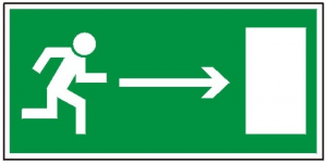 Kierunek do wyjścia drogi ewakuacyjnej w prawo 102  (FF)