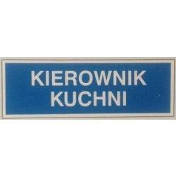 Znak KIEROWNIK KUCHNI 801-68 F.Z.